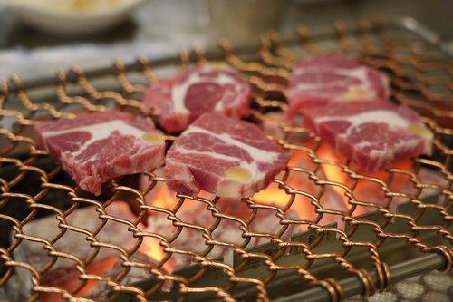 meat  lamb  charcoal