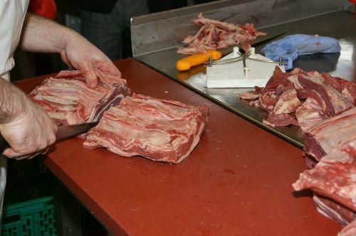 meat butcher's knife