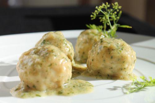 meatballs cod green sauce