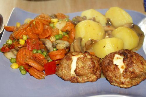 meatballs vegetables potatoes