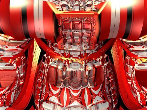 mechanical droid mandelbulb