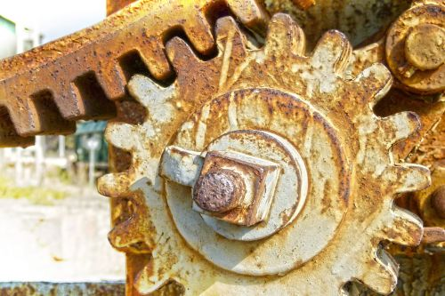 mechanizmas,įrankis,mašina,žiedai,sinergija,rusvas,senas
