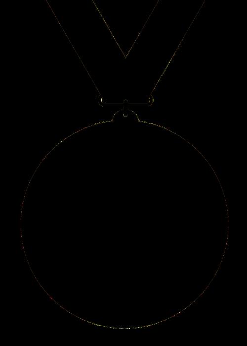 medal black silhouette