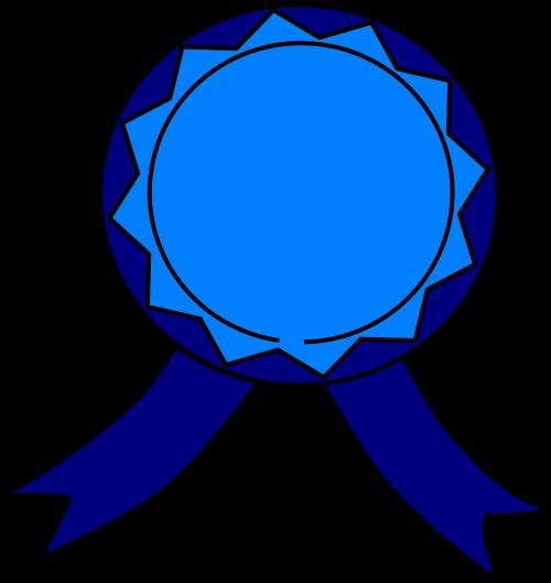 medal blue ribbon