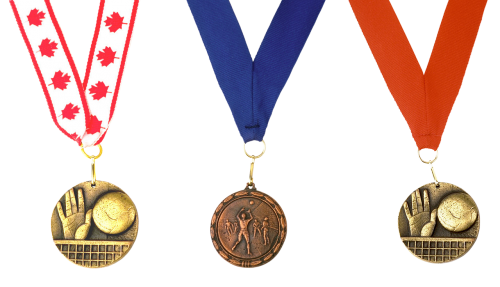 medal volleyball victory