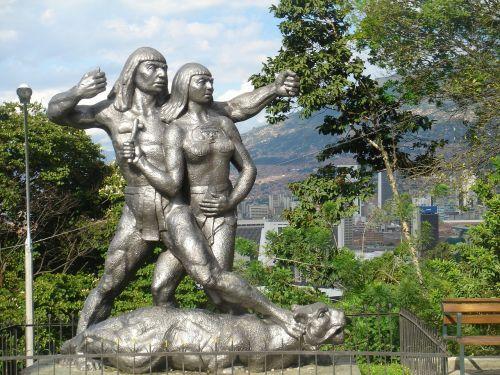 medellin colombia statue