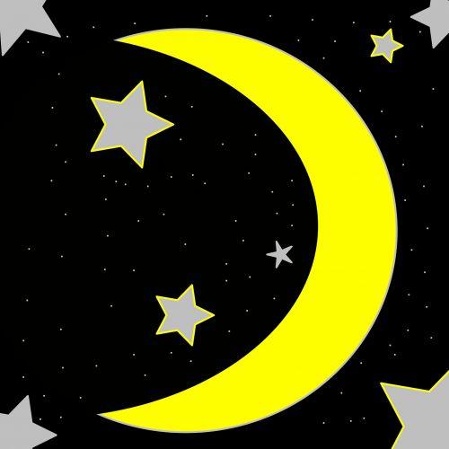 Half Moon With Stars