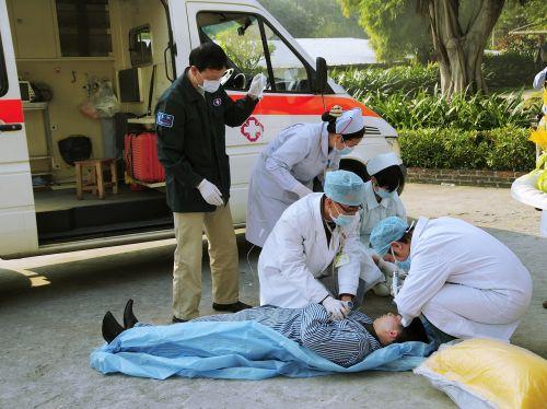 medical emergency emergency ambulance fire drill