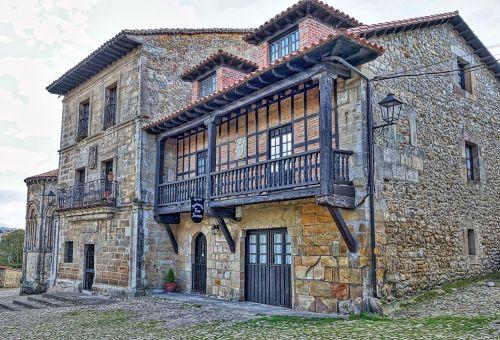 medieval house balcony