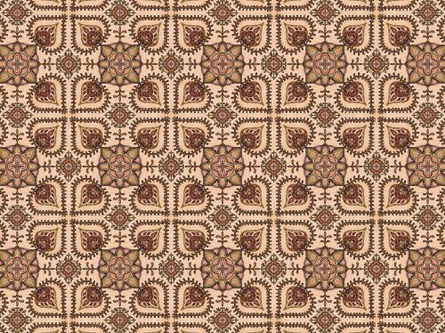 medieval flower pattern