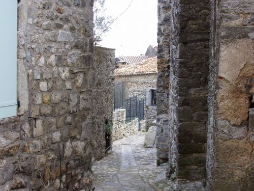 medieval village lane