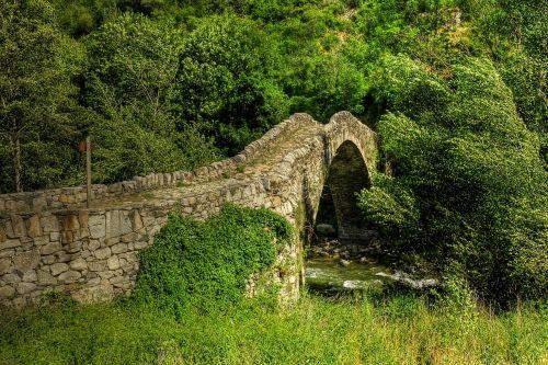 viduramžių tiltas,pont de la margineda,andorra,XIV amžius,romantika,istorija