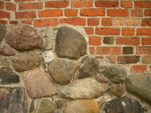 medieval castle detail stone foundation