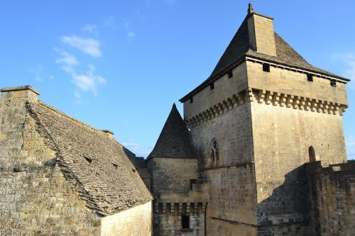 medieval castle stone wall roof