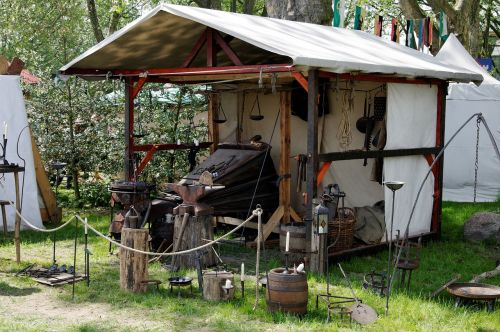 medieval market middle ages forge