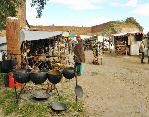 medieval market pot maker burghof