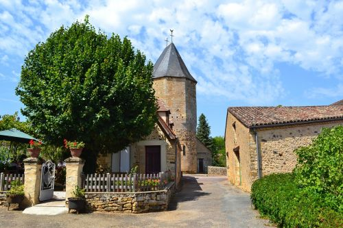 medieval village medieval church dordogne