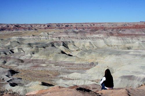 meditate  painted desert  arizona