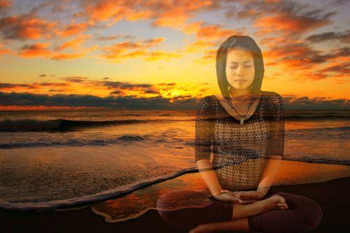 meditating sunset meditation