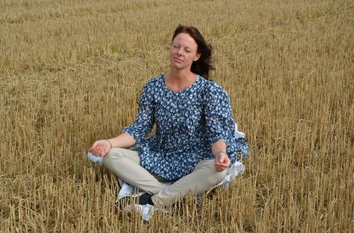 meditation immersion woman