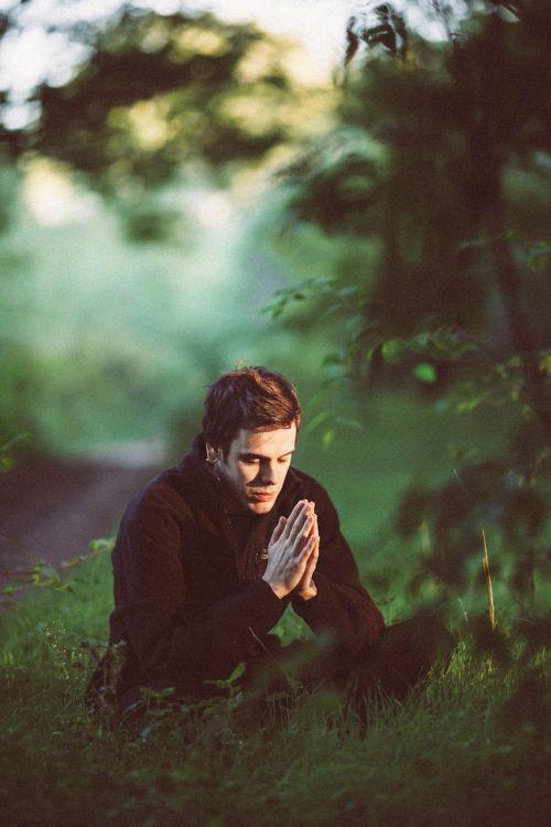 meditation green pray