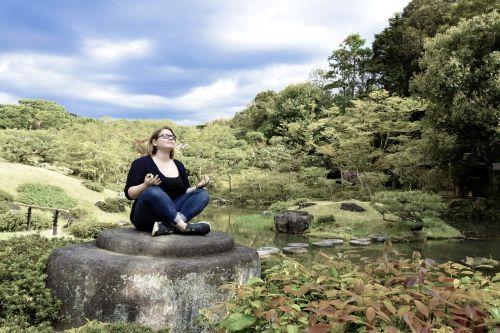 meditation japanese garden sky