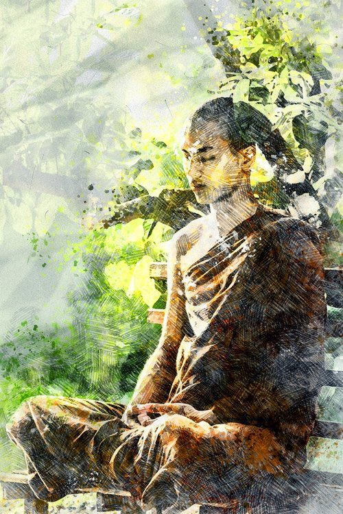 meditation  monk meditating  theravada buddhism