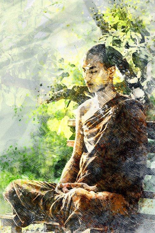 meditation  monk meditating  theravada buddhism
