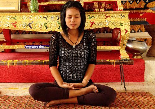 meditation girl temple