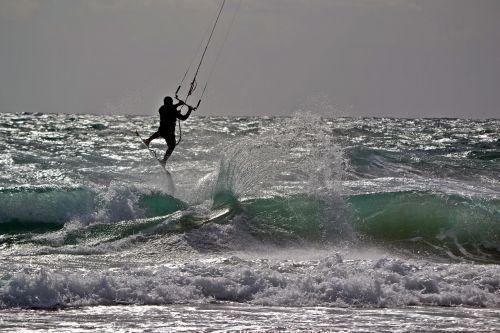 mediterranean surf kite surfing
