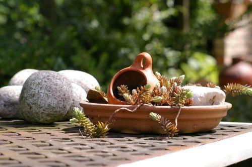 mediterranean ceramic garden