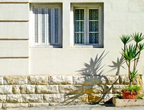 shuttered windows shutters mediterranean house