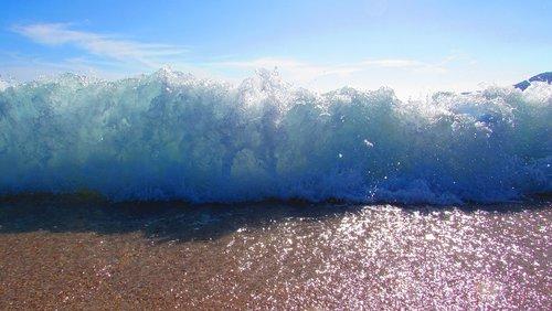 mediterranean sea  big wave  corsican