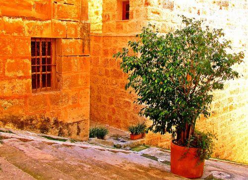 mediterranean village steps mediterranean