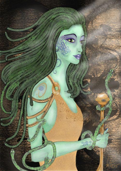 medusa snakes women