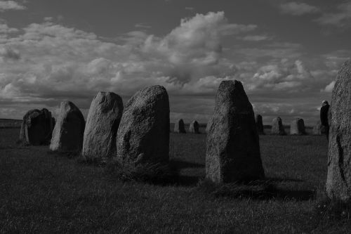 megalithic monuments monochrome outdoor