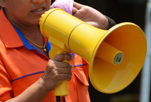 megaphone loud hailer loud-hailer