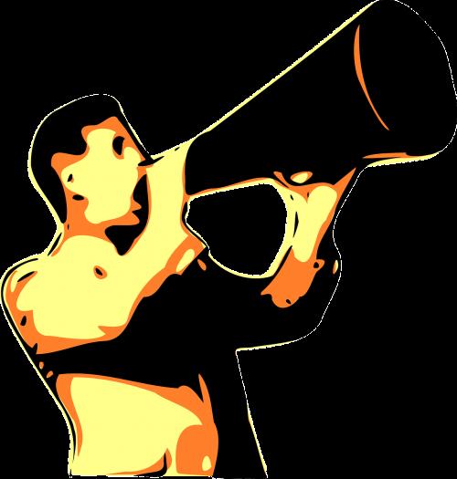 megaphone shouting voice