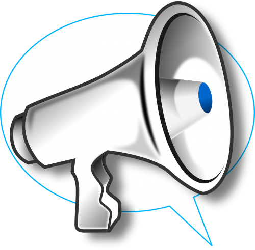 megaphone bullhorn loudhailer