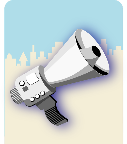 megaphone  protest  amplify