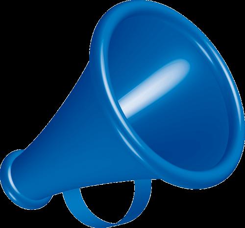 megaphone blue instrument