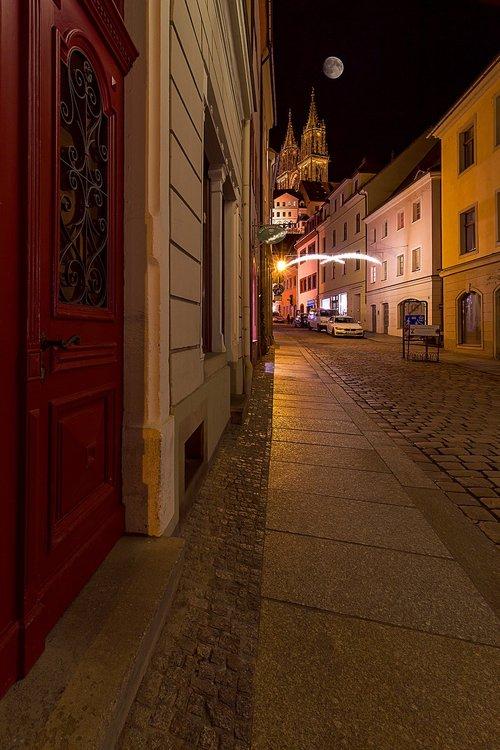 Meissen, Saksonija, Albrechtsburg pilis, Vokietija, Rytų Vokietija, Namas, statyba, istoriškai, miestas