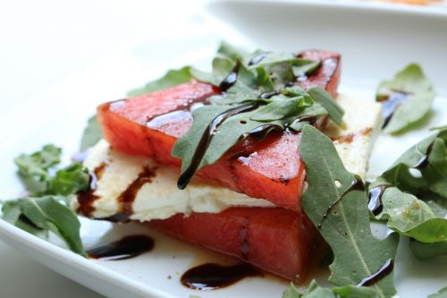 melon feta rocket
