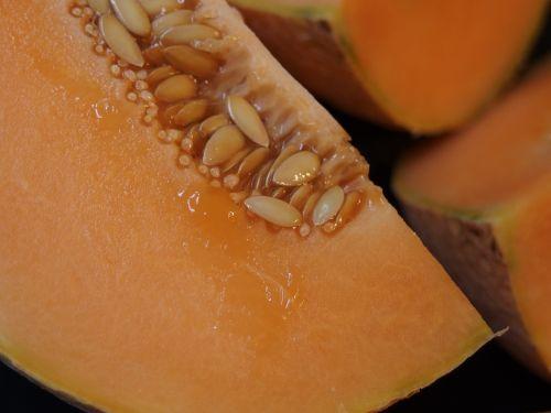 melon cantaloupe orange fruit