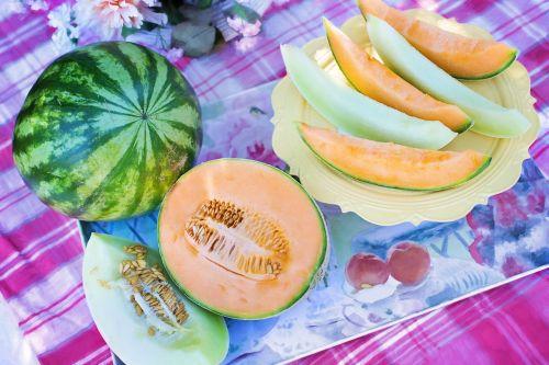 melons cantaloupe watermelon