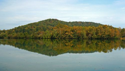 melton lake fall reflection clinch river tennessee