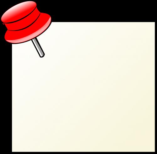 memo pushpin thumbtack