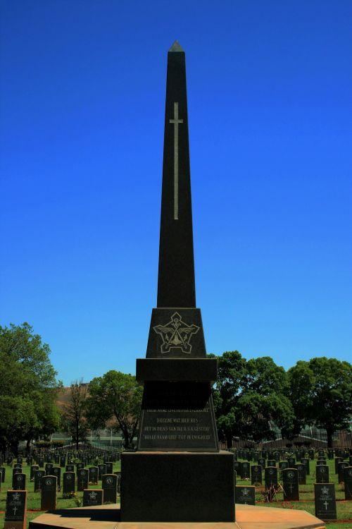 Memorial At Military Cemetery