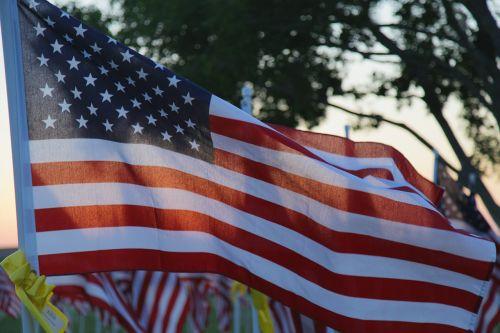 memorial day flag usa