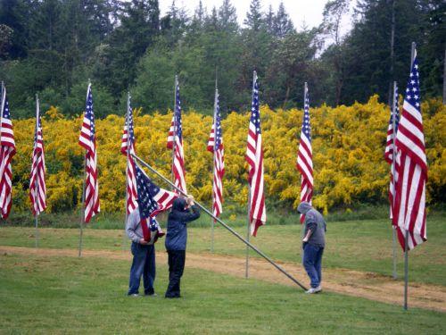 usa, vėliava, vėliavos, paminklas, diena, paslauga, atminimo dienos vėliavos
